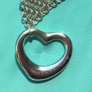Tiffany & Co. Jewelry - TIFFANY & CO Heart Sterling Silver Necklace